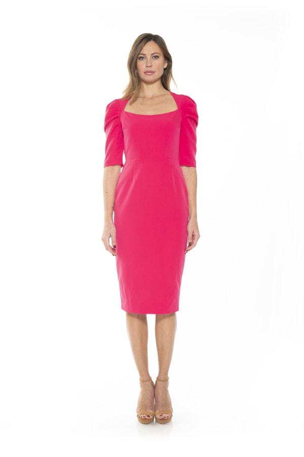 Meghan Mini Sheath - Hot Pink - Front
