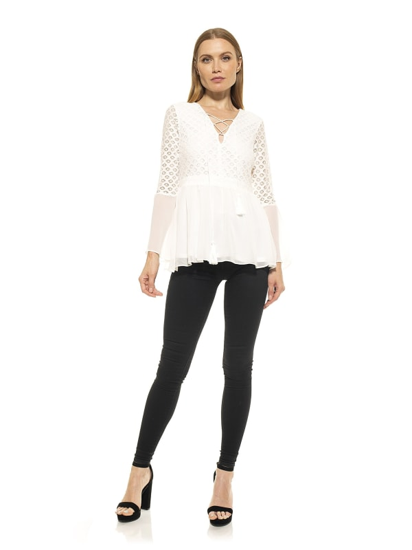 Juliet Lace Flare Sleeve Top