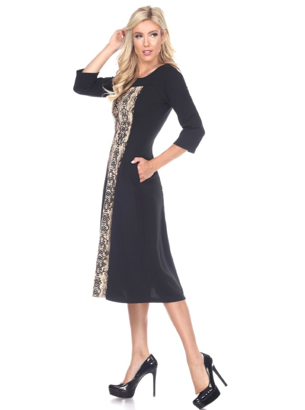 Constance 3/4 Sleeve Midi Dress