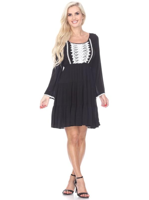 Anema Long Sleeve Embroidered Dress