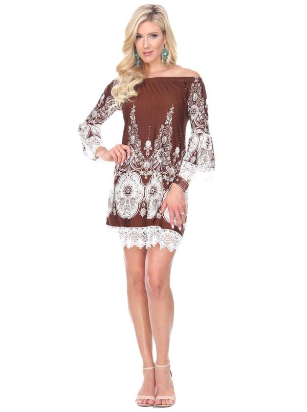Mya Shift Lace Hemline Dress