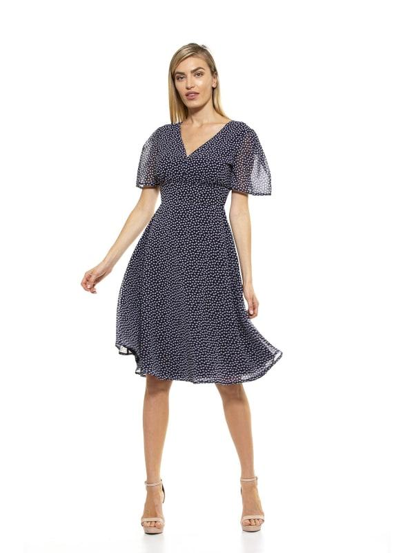 Kourtney Midi Dress - Blue / Multi - Front