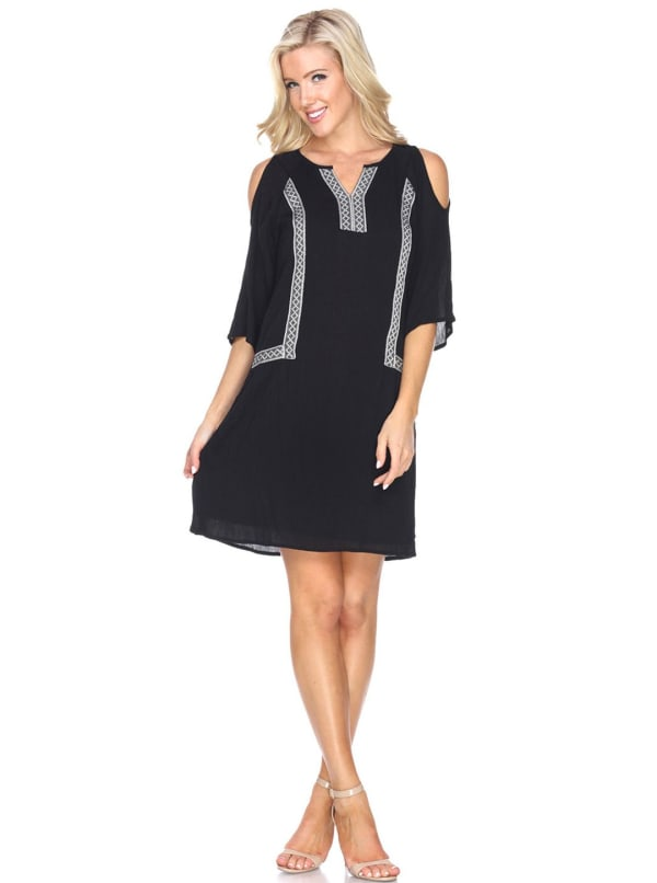Marybeth' Embroidered Dress