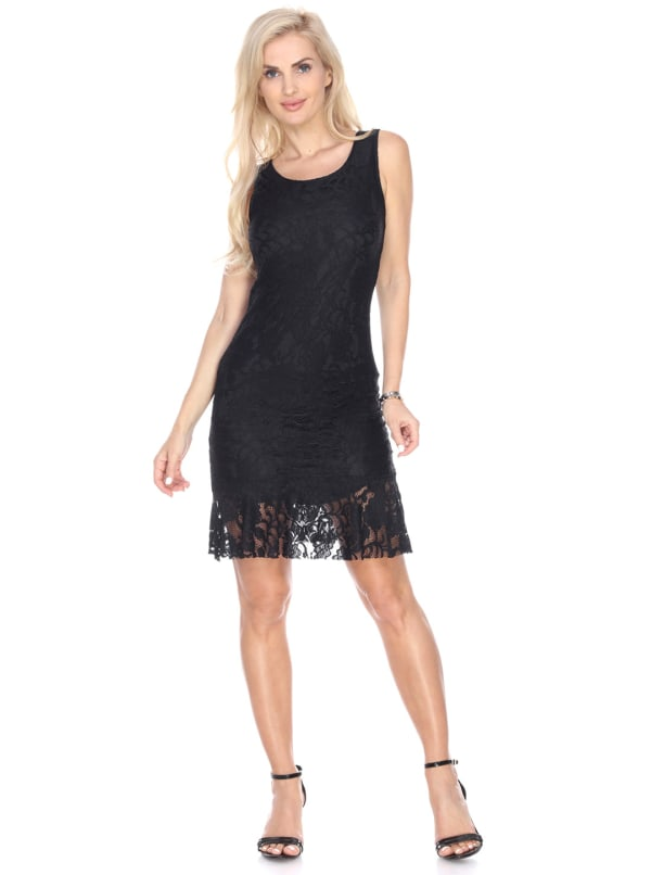 Cila Sleeveless Wrinkle Free Dress - Black - Front