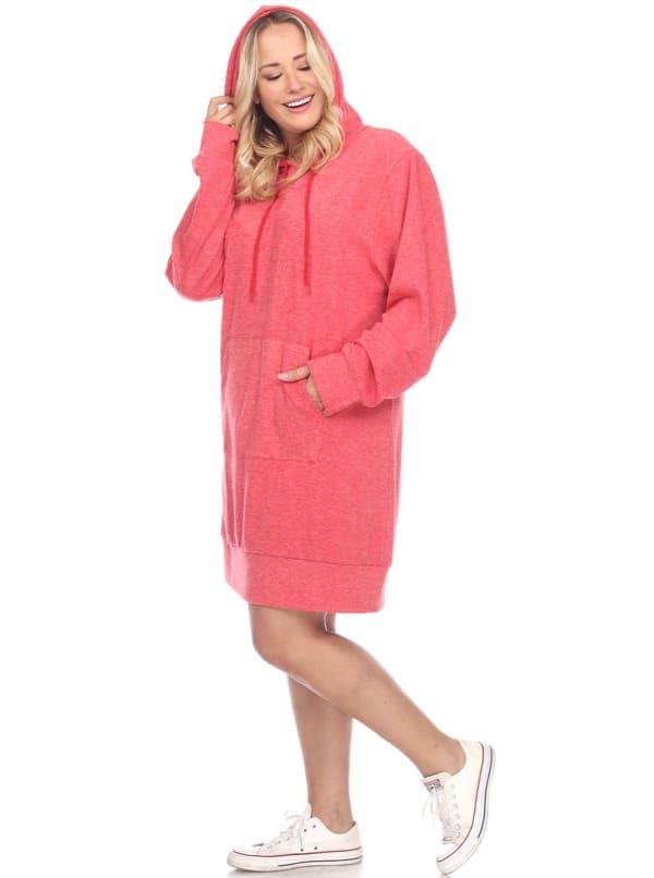 Plus Size Hoodie Sweatshirt Dress