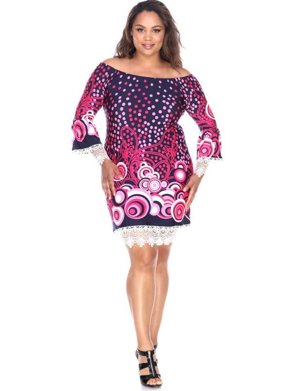 'Lenora' Long Sleeves Dress - Plus