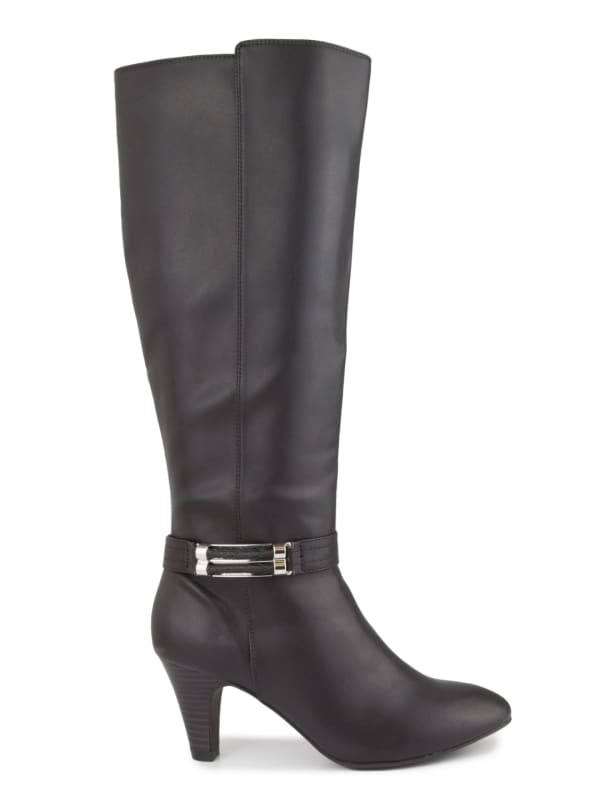 Event Tall Dress Boots - Black - Front