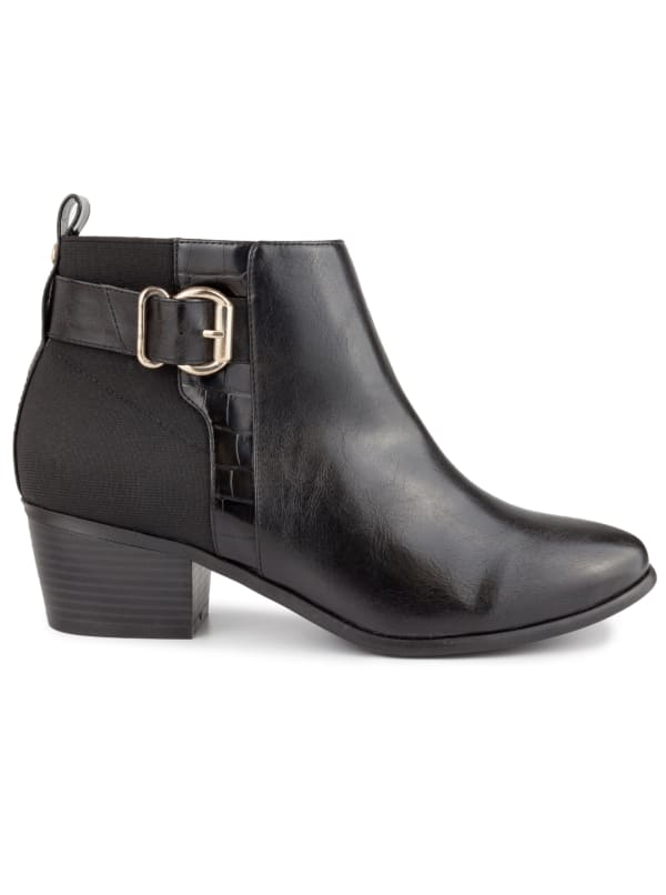 Harmony Ankle Boots - Black Smooth - Front