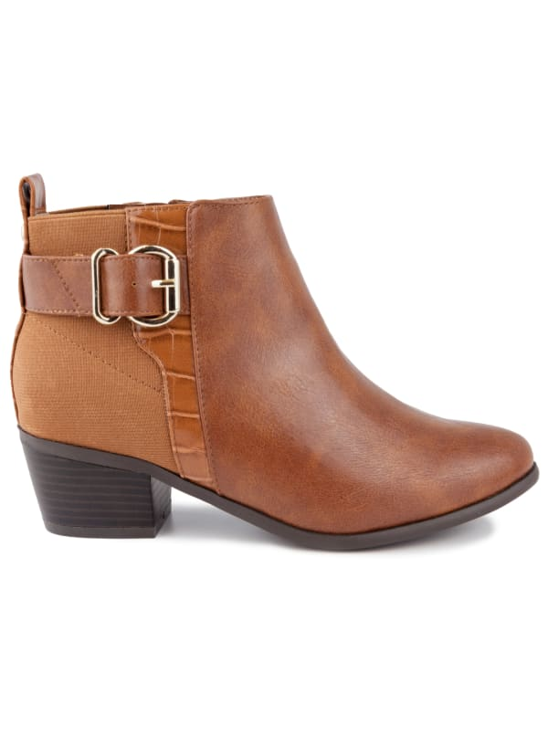 Harmony Ankle Boots - Cognac Smooth - Front