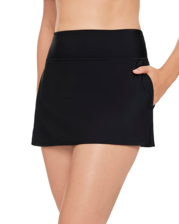 Solid 12 Women Swim Skirt  - Plus