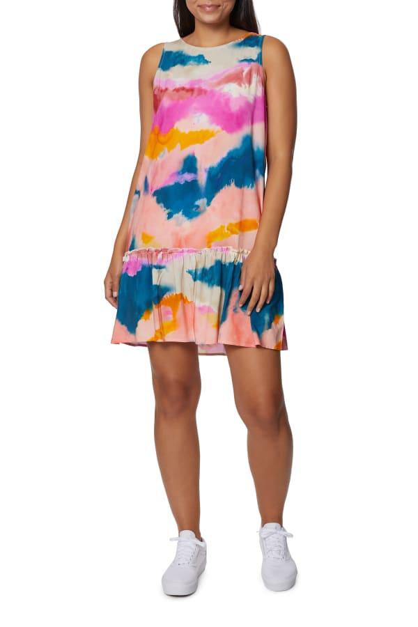 Caribbean Joe Ruffle Bottom Dress