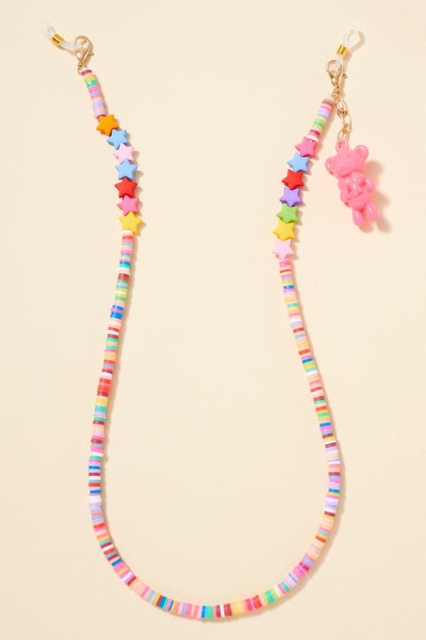 Star Rubber Beads Teddy Charm Lanyard