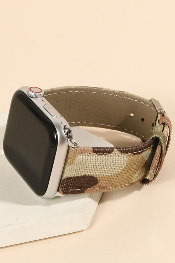 Camouflage Print iWatch Band