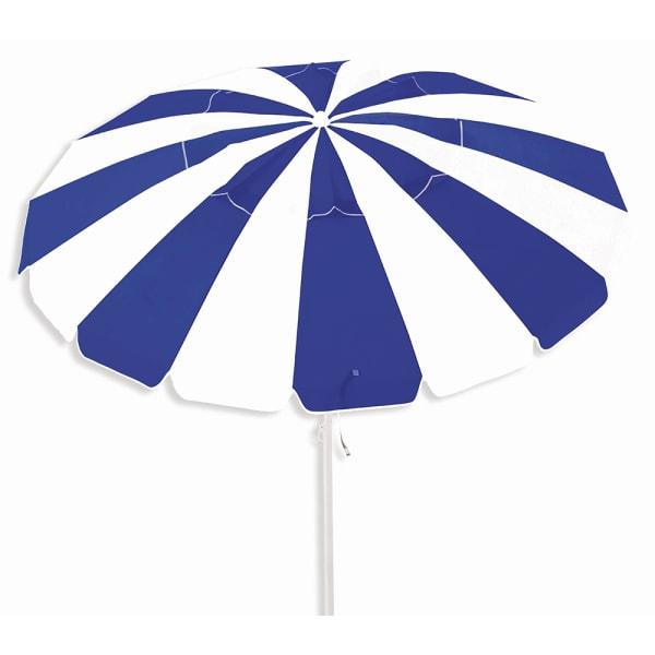 Caribbean Joe 8ft. Beach Umbrella with UV - Navy / White - Front