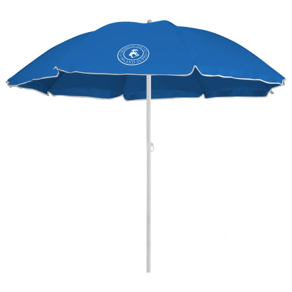Caribbean Joe 6 ft. Beach Umbrella with UV - Blue - Front