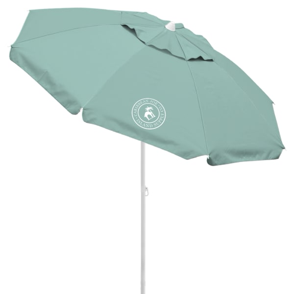 Caribbean Joe 6.5 ft. Beach Umbrella with UV - Mint - Front