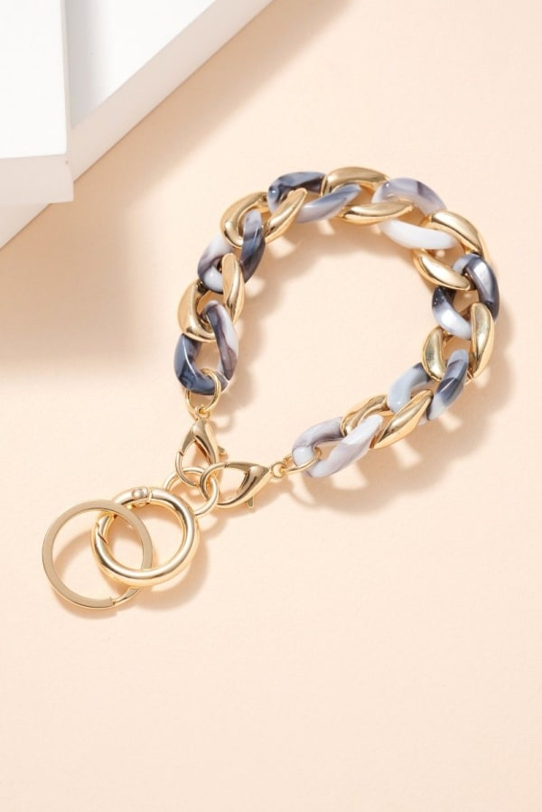 Acetate Metal Chain Linked Key Chain