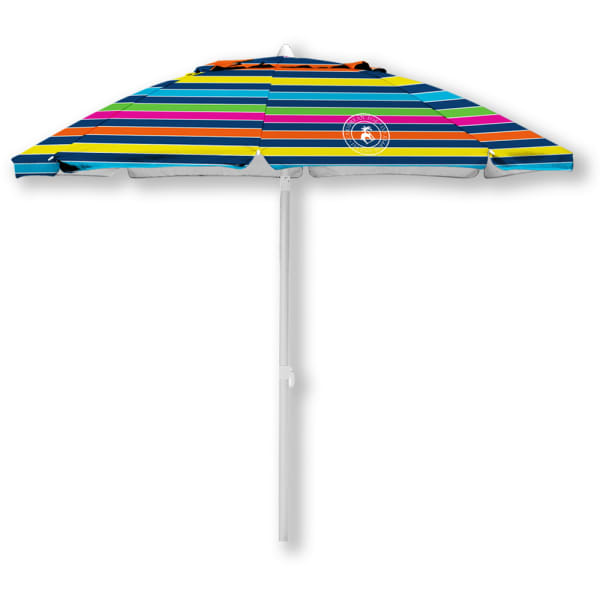 Caribbean Joe 7 ft. Beach Umbrella with UV - Rainbow Stripe - Front