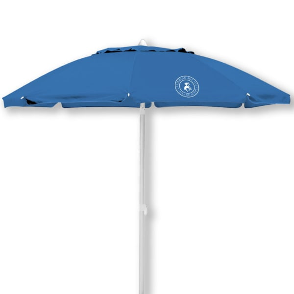 Caribbean Joe 7 ft. Beach Umbrella with UV - Blue - Front