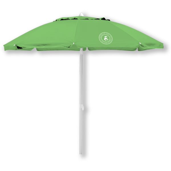 Caribbean Joe 7 ft. Beach Umbrella with UV - Green - Front
