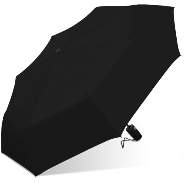 Nicole Miller Rain Umbrella - Black - Front