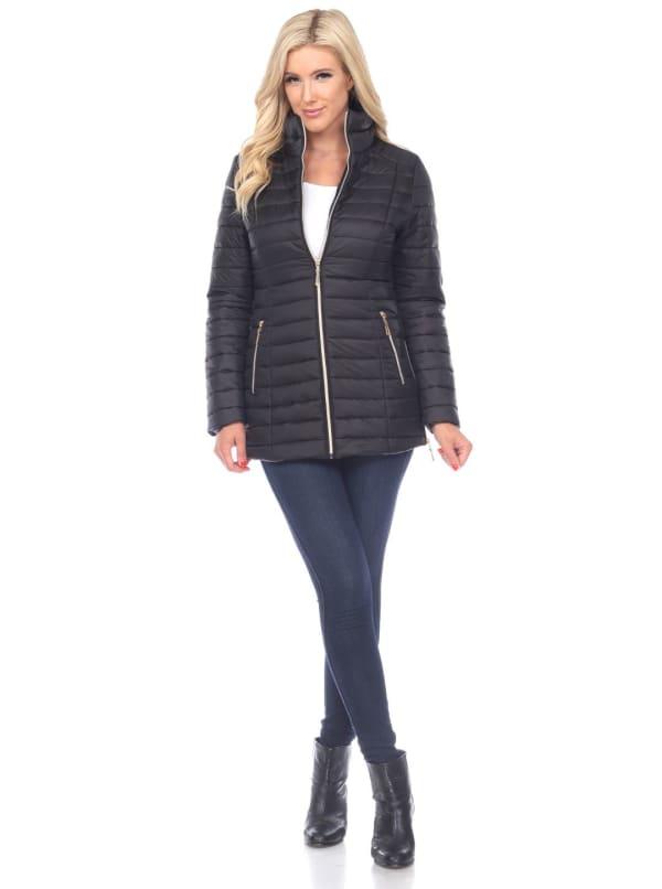 Lightweight Front Zipper Puffer Coat