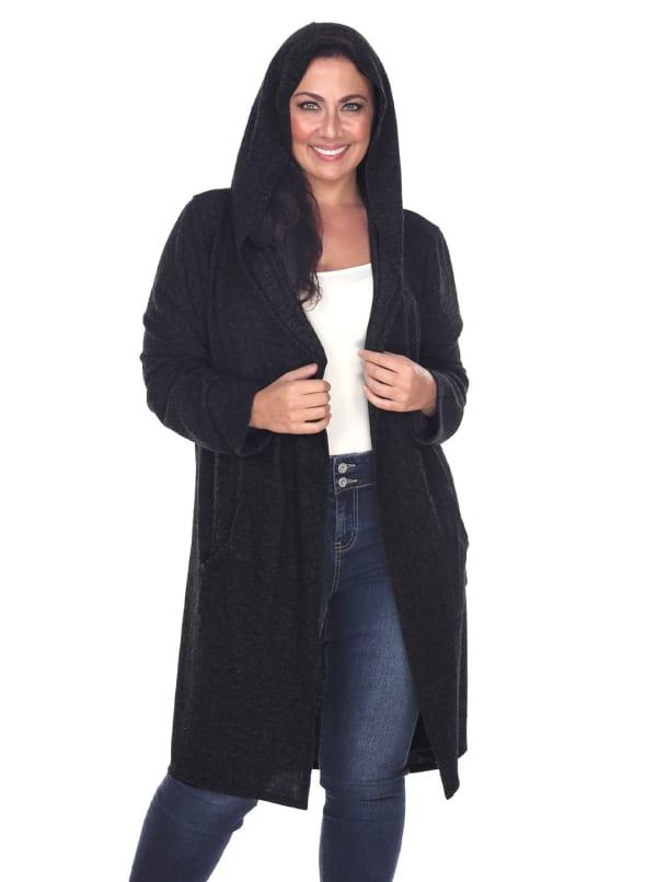 North Long Sleeve Hoodie Cardigan - Plus
