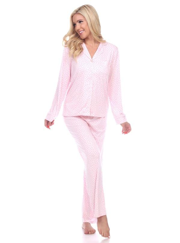 Long Sleeve V-Neck Soft Pajama Set