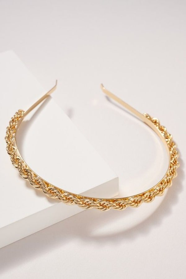 Twisted Metal Headband - Gold - Front