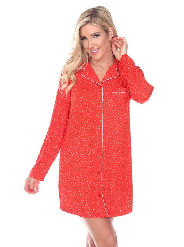 Long Sleeve Sleep Nightgown Shirt