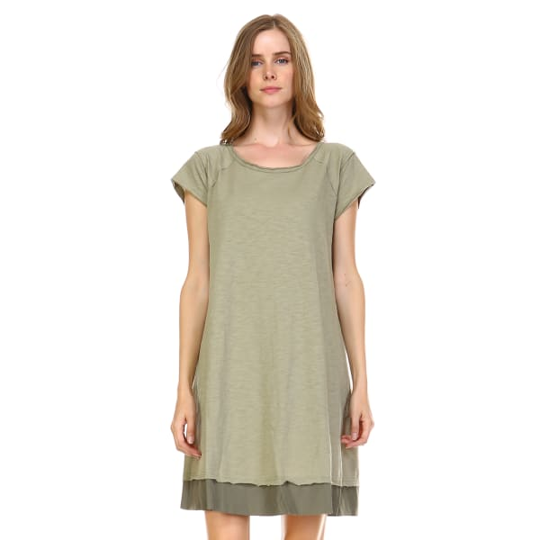 Kamille Tunic Dress - Olive - Front