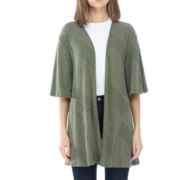 Short Sleeve Novelty Loose Fitted Cardigan