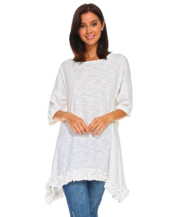 Jessica Tunic Dress - Off White - Front