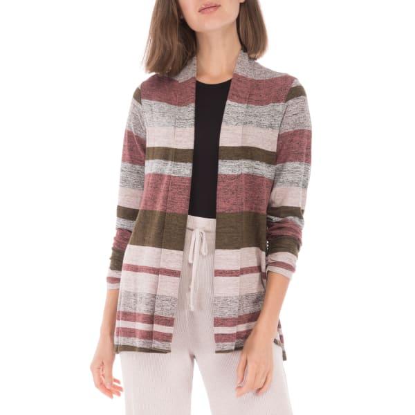 3/4 Cinch Sleeve Stripe Cozy Cardigan
