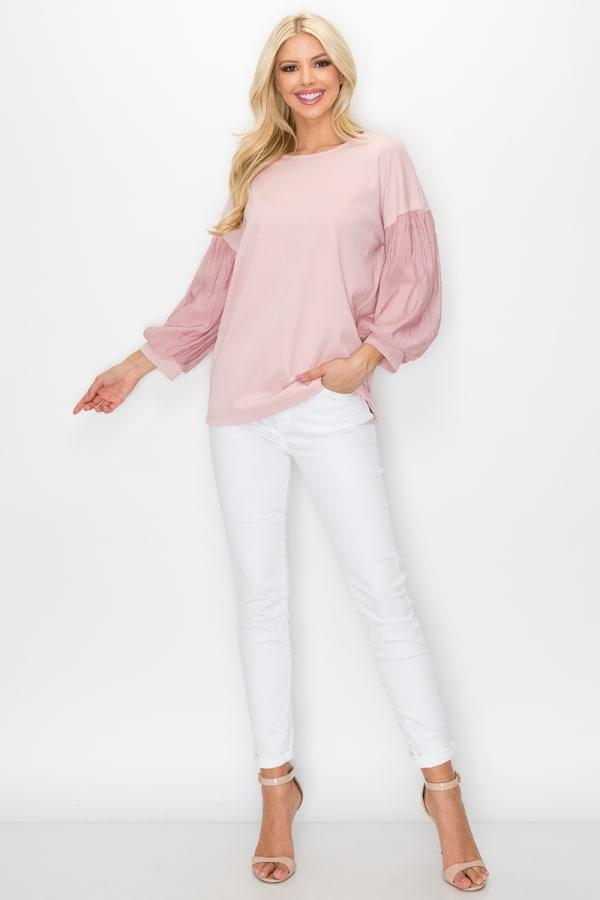 Raelie Top - Pink - Front