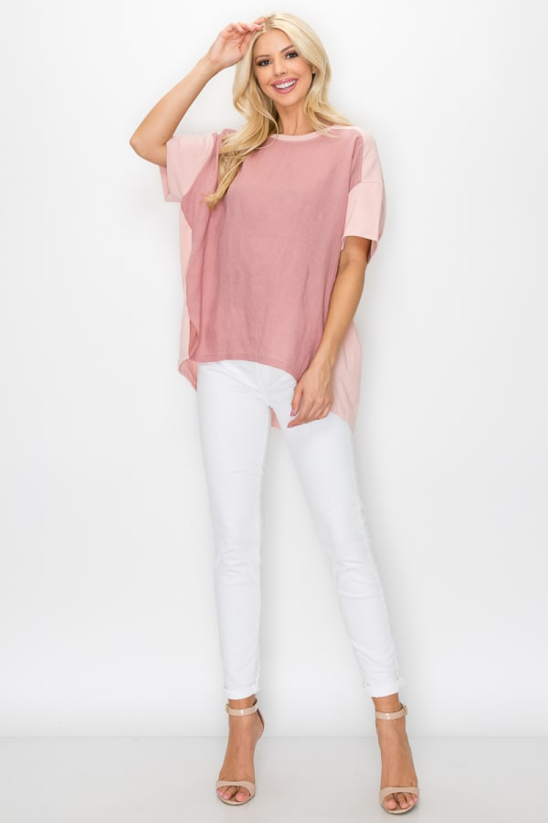 Kaelie Top - Pink - Front