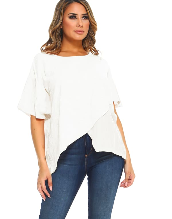 Carol Top - Off White - Front