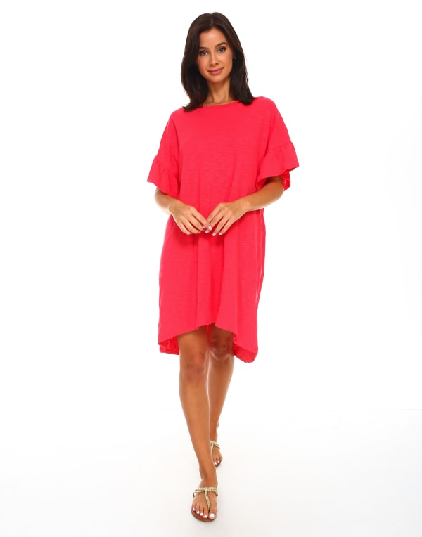 Kylie Tunic Dress - Strawberry - Front