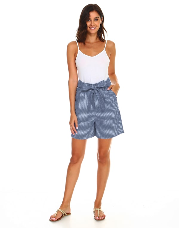 Liv Linen Shorts - As Is - Front
