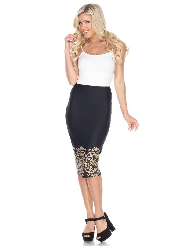 Cynthia Midi Pencil Skirt