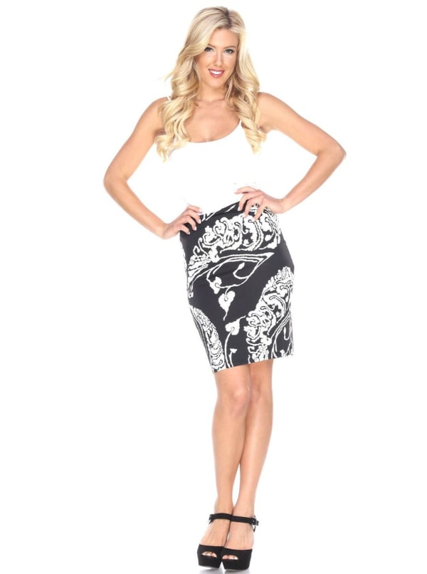Pretty and Proper Leaf Print Pencil Skirt