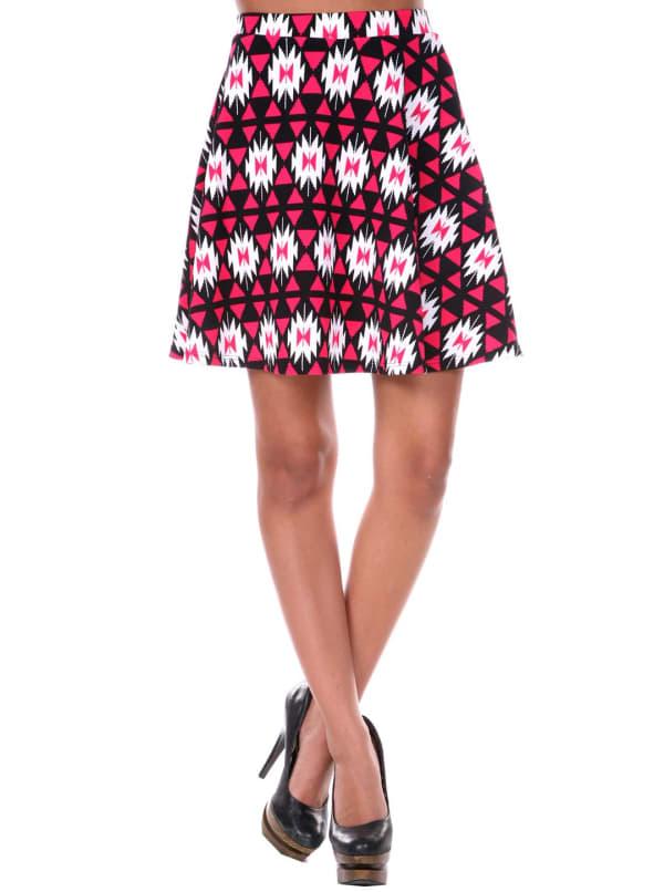Heidi Triangle Flared Mini Skirt