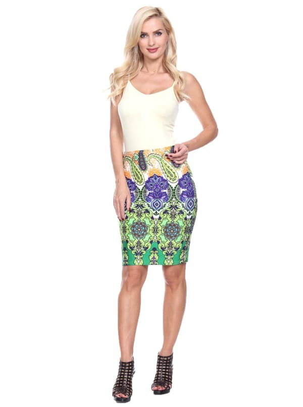 Knee Length Fitted Pencil Skirt