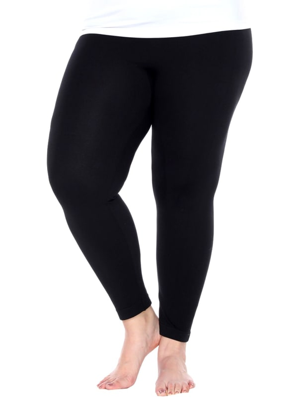 Super Stretch Solid Soft Leggings - Plus