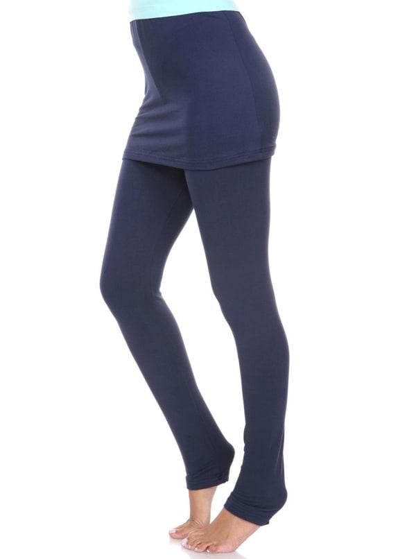 Fold-Over Skirted Leggings