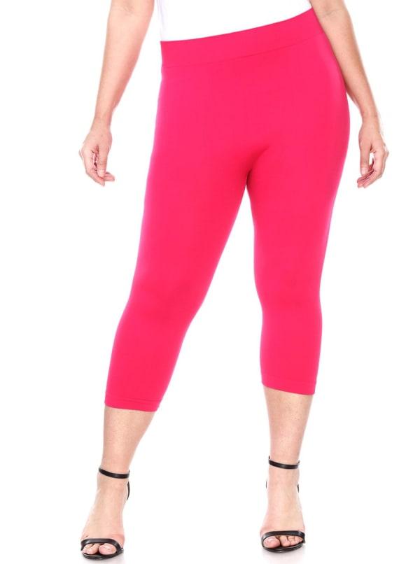 Super Soft Solid Color Capri Leggings - Plus
