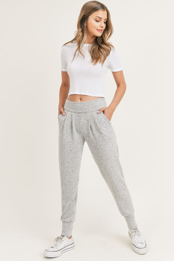 Comin'Go Jogger - Light Grey - Front