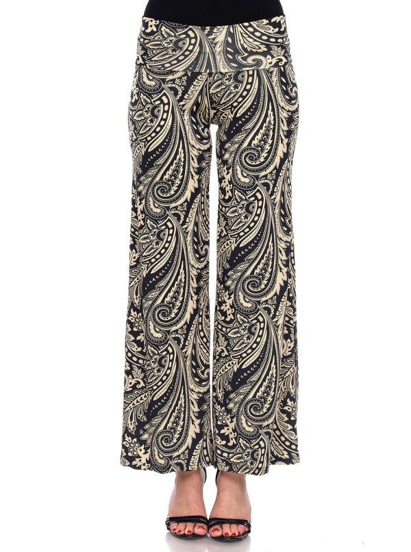 Summer Time' Palazzo Pants - Brown - Front