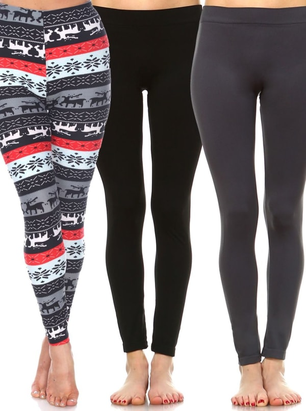 Pack of 3 Soft Versatile Leggings