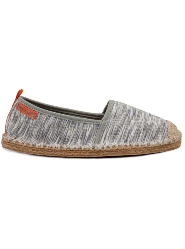 Sandbar Espadrille Slip On Water Shoe - Grey Knit - Front